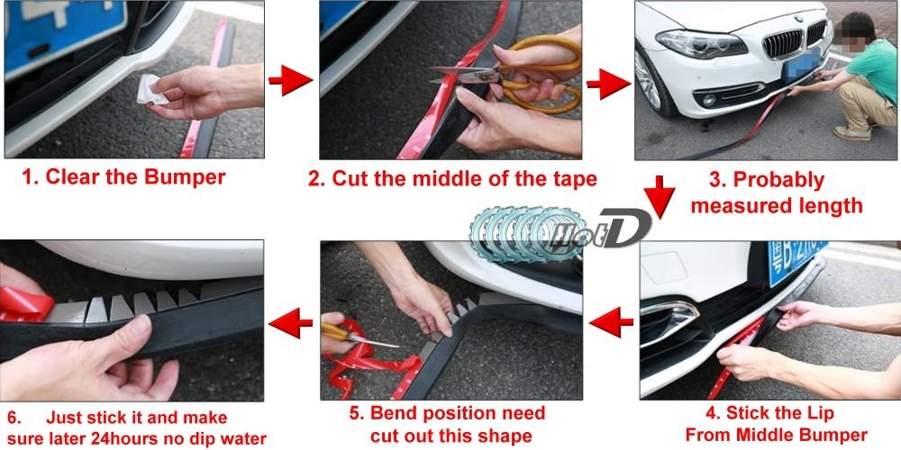 Hyundai Coupe Tiburon Tuscani Bumper Lip Deflector Scoops Front Skirt Installation