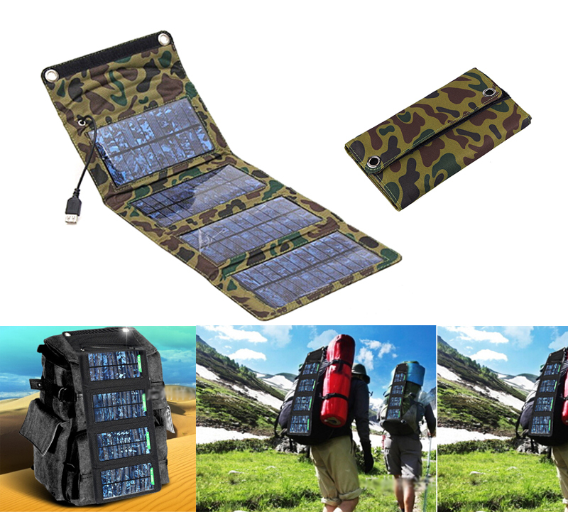 5V 7W Portable Folding Solar Panel Power Source Mobile USB Charger for Cell phones GPS Digital Camera PDA(China (Mainland))