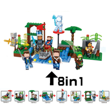 Buy 8pcs/lot Building Blocks Bricks fun Toys Children compatible Lepin World Minecraft 8 1 Model kit action anime figure for $12.15 in AliExpress store
