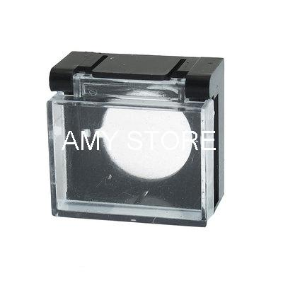 Emergency Push Button Switch Black Clear Protector Cover 16mm(China (Mainland))