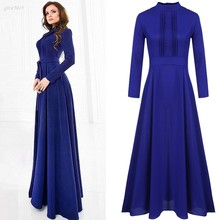 Fashion Women Long Maxi Dress Long Sleeve Chiffon Evening Party Elegant Autumn and Winter Dresses(China (Mainland))