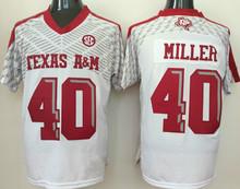 40 Von Miller College Jersey Red White Black(China (Mainland))