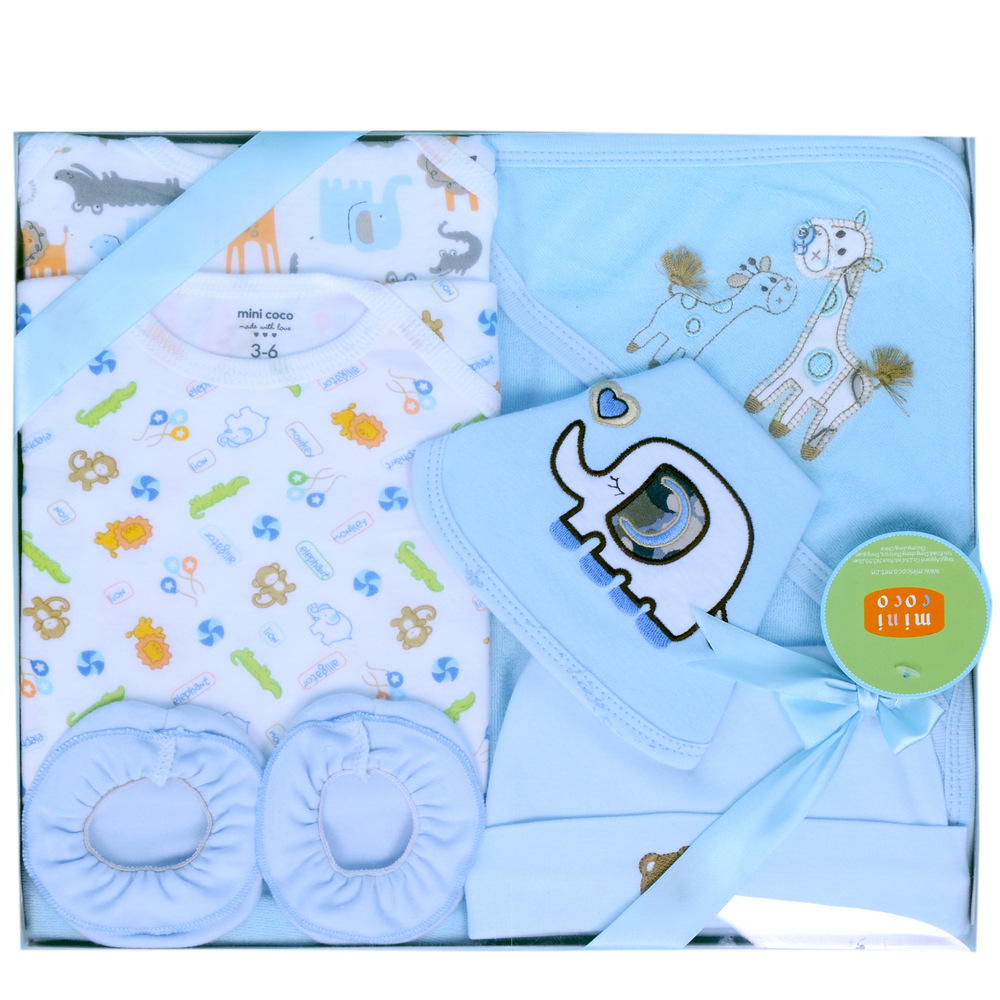 Baby Boy Gifts Sets : Pieces high quality cotton newborn baby gift set