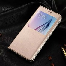 S6 Edge Plus View Window Flip Cover Leather Back Case For Samsung Galaxy S6 Edge Plus 5.7 inch(China (Mainland))