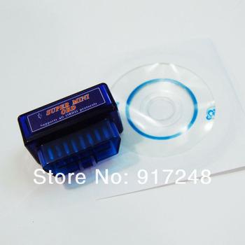 20pcs/lot Auto Tools OBD Super Mini Bluetooth ELM327 V1.5 Diagnostic Scanner Tool Elm327 Bluetooth