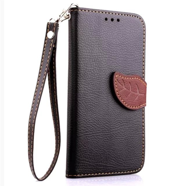 2015 Top Selling Leaf Leather Protection case For LG G3 mini Wallet Style Flip Stand Phone Back Cover with Card Slot(China (Mainland))