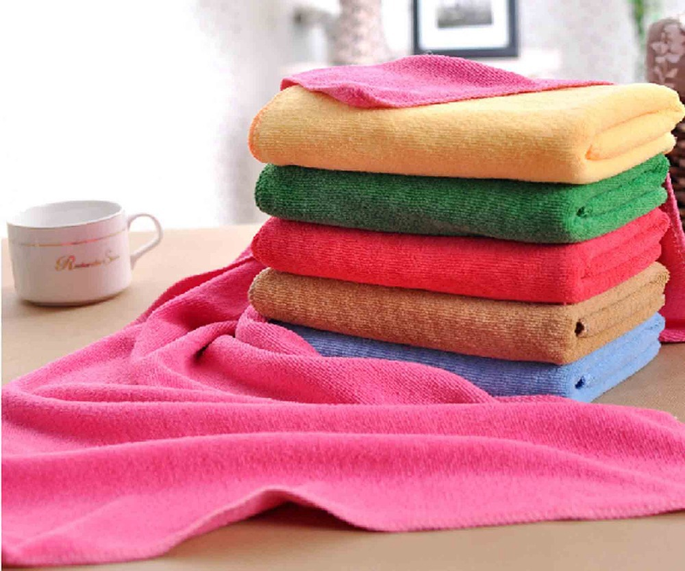 30x70cm thin style microfiber fabric hair drying towel for Glass cleaning towels