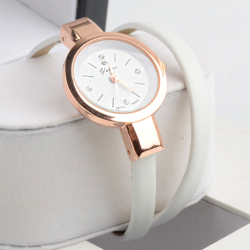 Leather Strap Bracelet Dress Watch women Ladies Fashion Rhinestone Analog Quartz Wristwatches ladies watch  clocks<br><br>Aliexpress