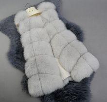 New Real fox fur Vest women full pelt fox fur coat winter fur jacket outerwear customized big size DHL EMS Free shipping F708(China (Mainland))