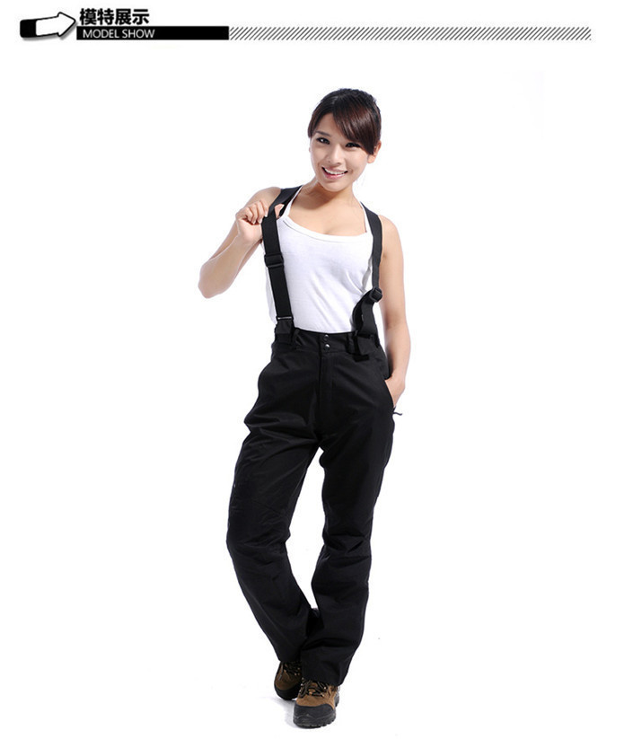 New arrival 2015 US famous brand/2 layers outdoor sport ski pants/women winter black fashion pants/snowboard suspenders pants(China (Mainland))