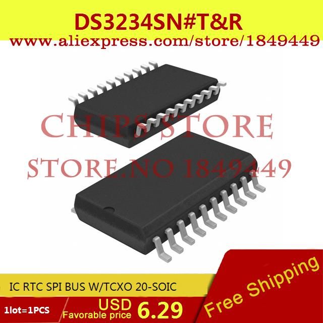 Free Shipping Hot Sell Integrated Circuits Original DS3234SN#T&R IC RTC SPI BUS W/TCXO 20-SOIC DS3234SN 3234 DS3234 1pcs(China (Mainland))
