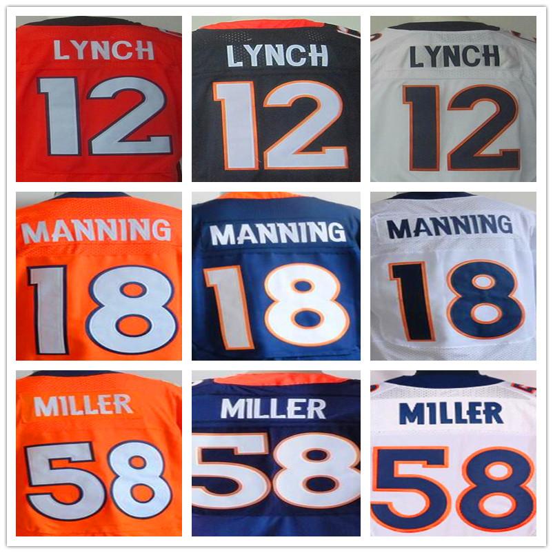 7 John Elway 12 Paxton Lynch Peyton Manning 58 Von Miller 10 Emmanuel Sanders Elite 100% Stitched(China (Mainland))