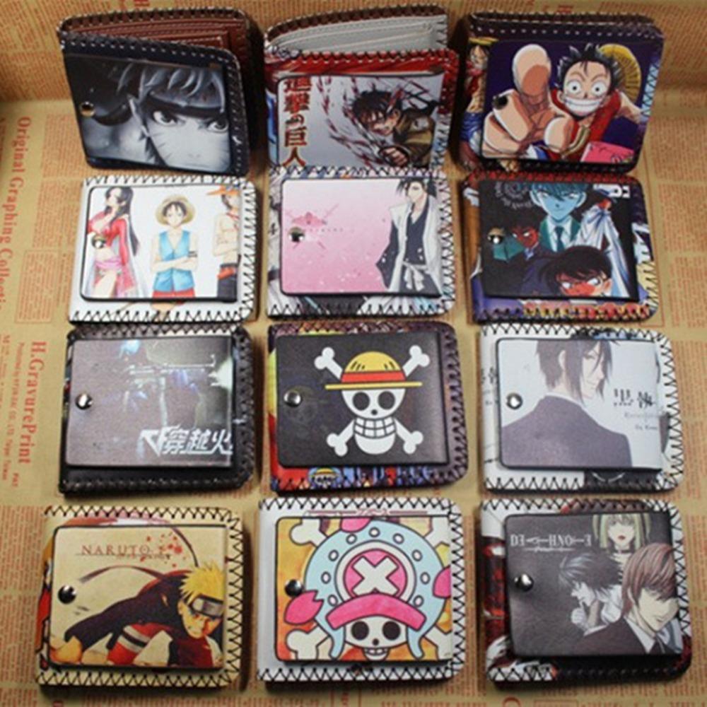 Women&amp;Men Fashion Cute Cartoon Wallet One Pieces Tokyo Ghoul  Black Butler Card Holder Short Pures<br><br>Aliexpress