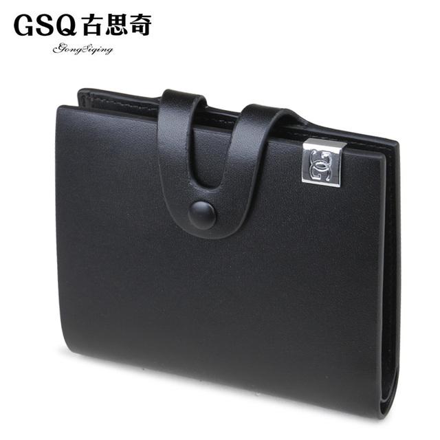 Gsq boutique purse male autumn elegant commercial cowhide short wallet design male wallet