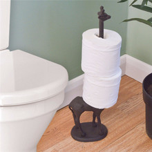 Home Bathroom Metal Giraffe Toilet Paper Roll Towel Dispenser Storage Holder  Stand Bathroom Tool The Best Quality