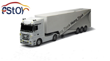 New Long RC Truck Mercedes Benz Super Heavy Truck 12 Wheel Detachable truck Container High simulation Truck tractor toy(China (Mainland))