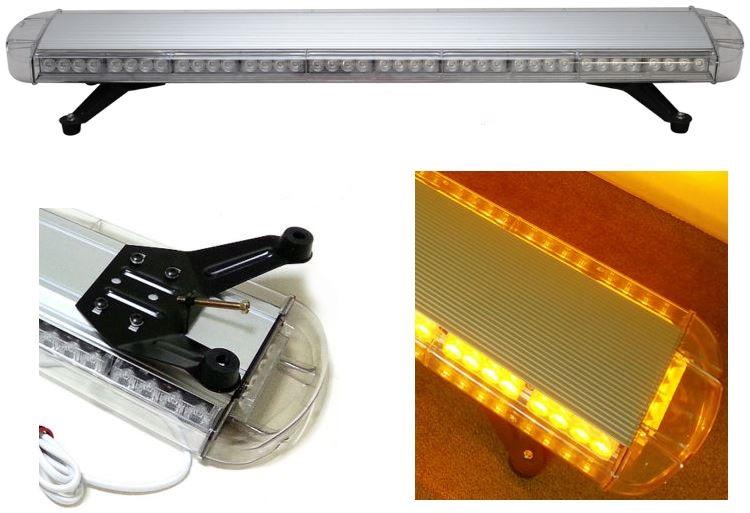 Free Shipping high bright Generation III 1Watt LED lightbar led light bar led warning lightbar amber led lightbar LAL-084(China (Mainland))
