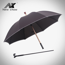 Buy NX old male man Walking Stick Umbrella creative long umbrella Straight handle umbrella Super strong wind for $33.99 in AliExpress store
