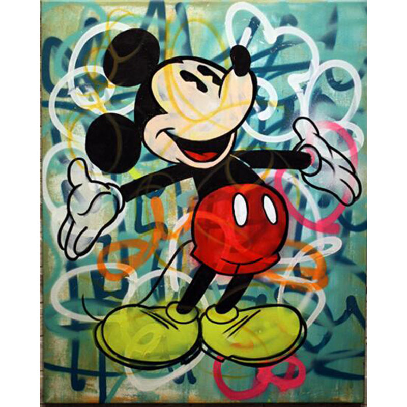 hand painted oil painting pop artist painting Richie Rich Graffiti art money Alec Monopoly Banksy art posters Living room decor(China (Mainland))