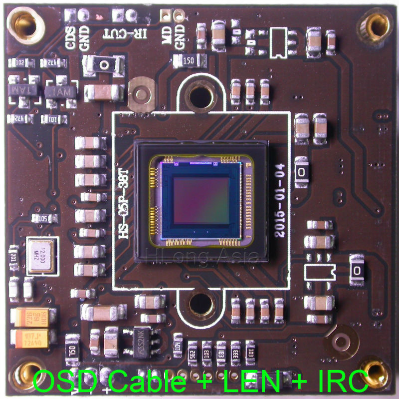 """1000TVL Multi-Objects Tracking 1/2.8"""" Sony Exmor CMOS IMX238 AVS05P CCTV camera module chip board OSD cable + 2.0MP LEN + IRC(China (Mainland))"""