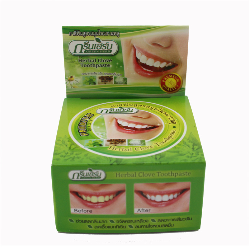 25 g herbal RASYAN toothpaste and pure and fresh breath Bright white to tartar very well