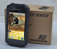 Hummer H5 Phone IP68 MTK6572 Android 4.2 3G GPS AGPS 4.0 Inch Screen Shockproof Waterproof Smart Phone