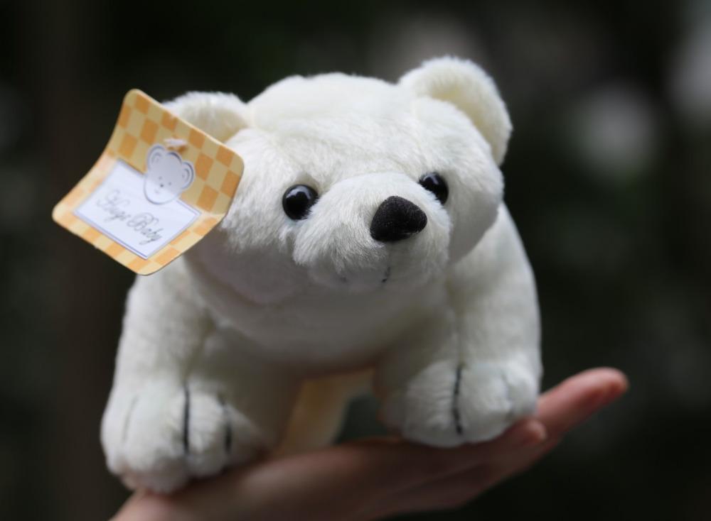 Top White Polar Bear Stuffed Plush Animal Toy Soft Birthday Gift Christmas 27cm Long Naruto Cosplay(China (Mainland))