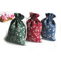 30pcs 9 5 13 5cm Mix Chinese style Small Gift Cotton and linen Drawstring Bag Jewelry
