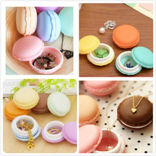 Mini Macaroon Storage Box Ring Necklace Stud Earring Pill Contanier Nail Art Craft Orgainzer Collection(China (Mainland))