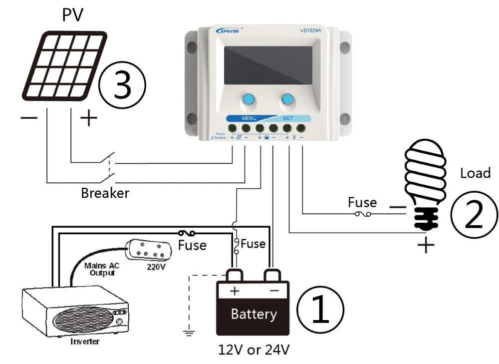 30a epsolar solar charge controller 12v 24v lcd display