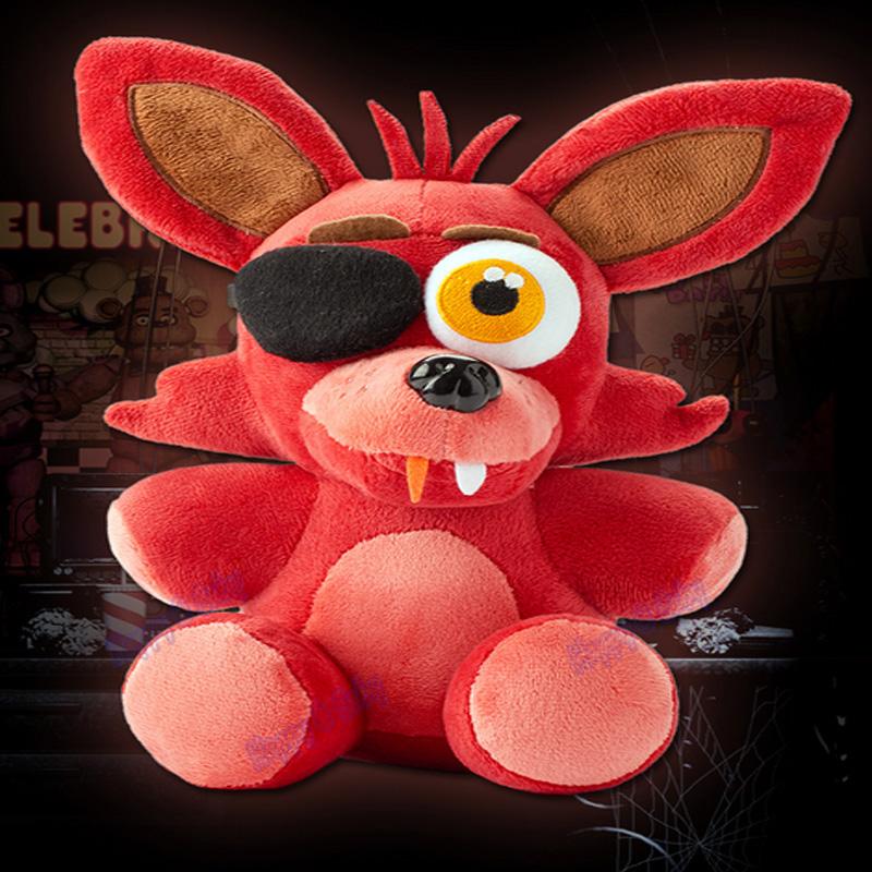 Hot! five nights at freddy's 4 plush doll foxy 10'' 25cm foxy/Bonnie/Chica/Freddy plush toys Kids Christmas gifts(China (Mainland))