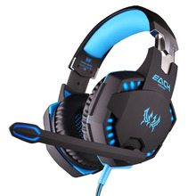KOTION EACH G2100 Vibration Function Professional Gaming Headphone with Mic Stereo Bass LED Light for PC Gamer Games Headset