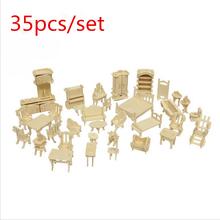 35pcs/set Furniture assembly sylvanian families miniature chair miniature dollhouse furniture accessories Develop intelligence (China (Mainland))