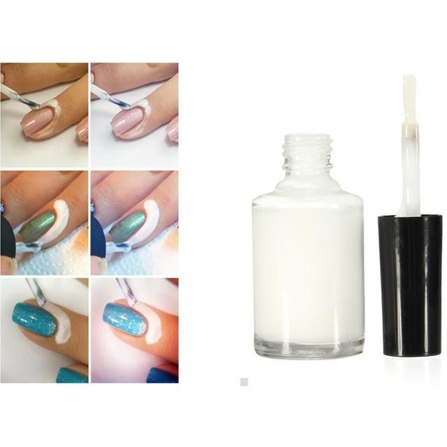 Профессиональный 15 мл белый отшелушивающая жидкость ногтей лента латекс лента частокол ...