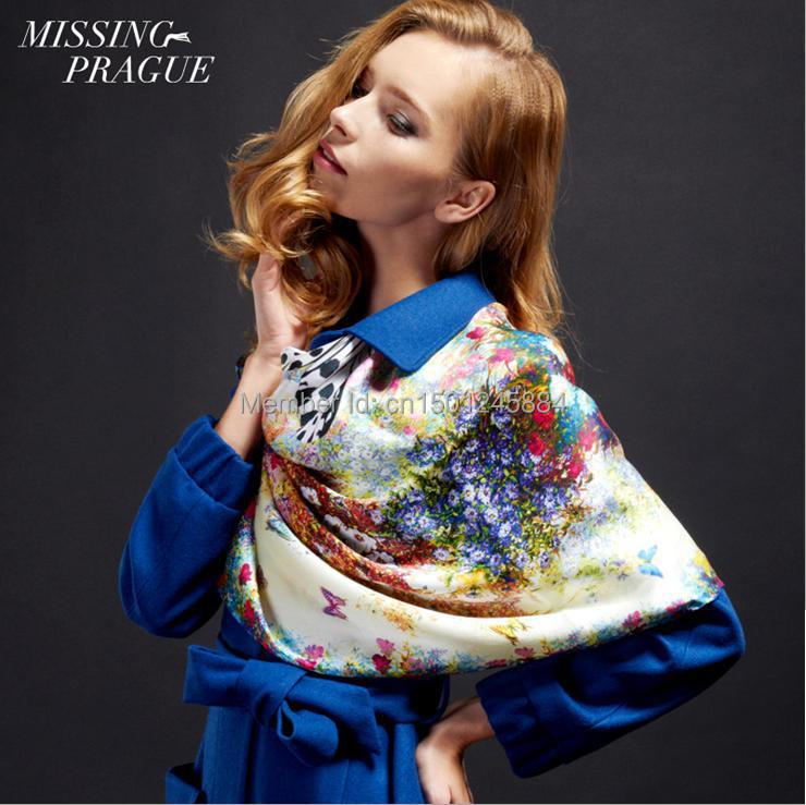 2014 Winter Brand New Arrival Fashion Leopard Silk Scarf(China (Mainland))