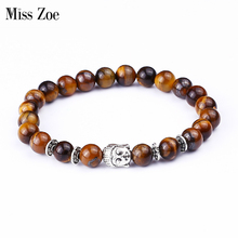 Buy Miss Zoe Tiger Eye Beads Bracelets Shakyamuni Buddha Bangles bijoux Rope Chain Natural Stone Volcanic Bracelet Women Men Jewelry for $1.49 in AliExpress store