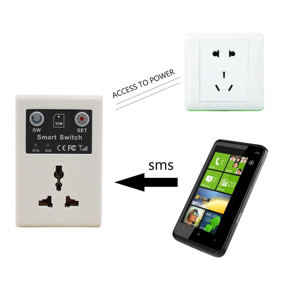 Гаджет  220v EU Plug Cellphone Phone PDA GSM RC Remote Control Socket Power Smart Switch interruptor switches Hot None Электротехническое оборудование и материалы