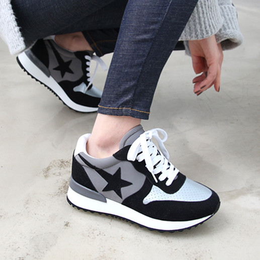 Фотография High quality 2016 Women Sneakers Lace-up Sport Shoes Women Comfortable Running Shoes f-037