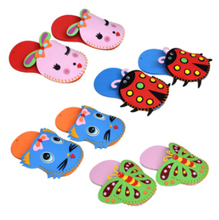 1 Pcs EVA Slippers New Arrival Kids DIY handmade  Eva Foam Stickers Craft Puzzle Baby educational early learning toys W019