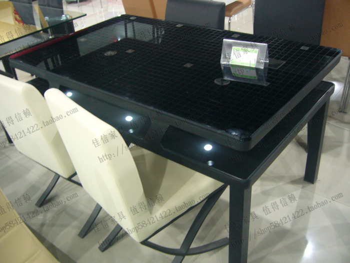 Обеденный стол черное стекло