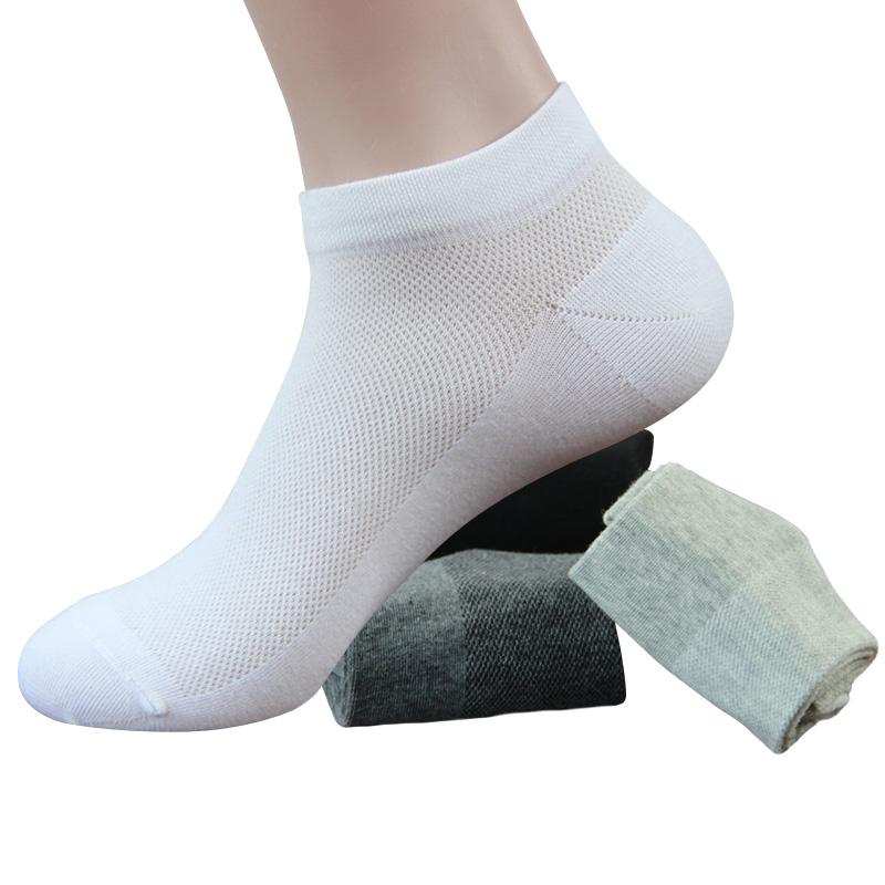 Hot 2017 Summer Brand Socks Man Mesh Solid Color Men Socks Sport Cotton All-Match Business Men Socks 5pairs/lot(China (Mainland))