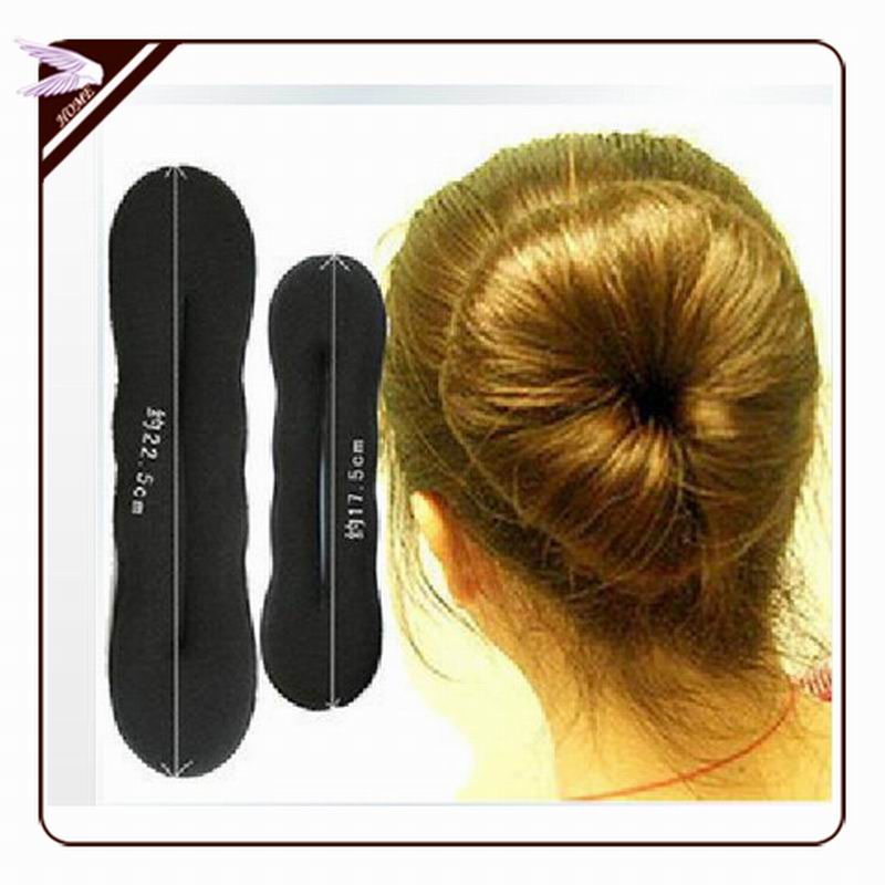 fashion hair bands Magic Foam Sponge Hair Tools Plate Donut Bun Maker Former Twist Tool Styling Fast delivery JF077(China (Mainland))