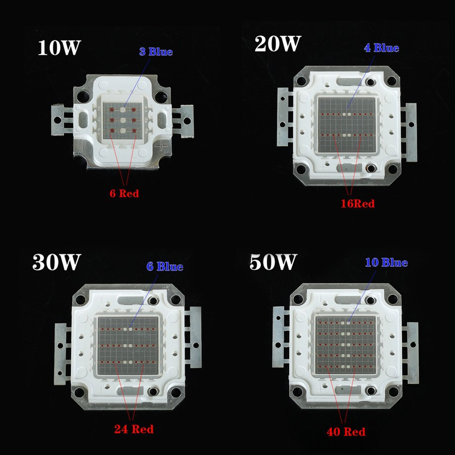 Купить 2016 Новый открытый светодиодный Синий 460nm Красный 660nm высокой мощности 30 Вт 50 Вт светодиодный прожектор Гидропоники Завода Наводнение Светать Воды доказательство