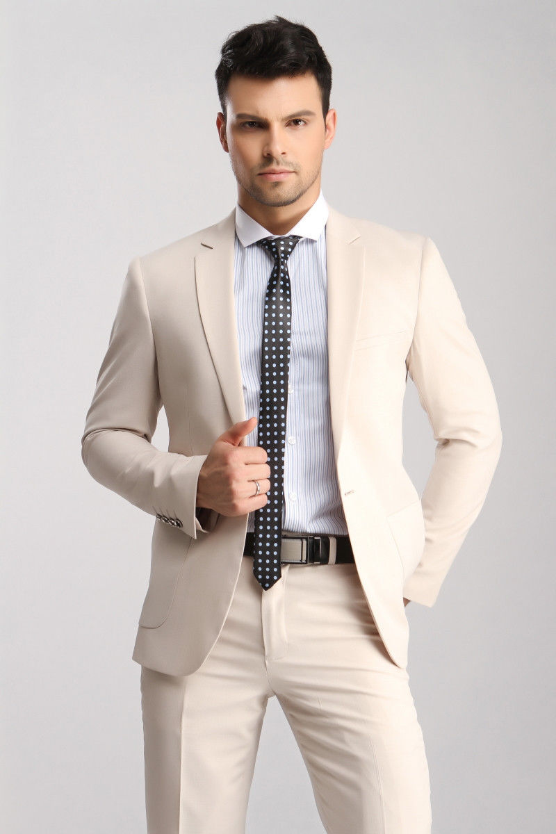 Mens Cream Suit Slim Fit Promotion-Shop for Promotional Mens Cream ...