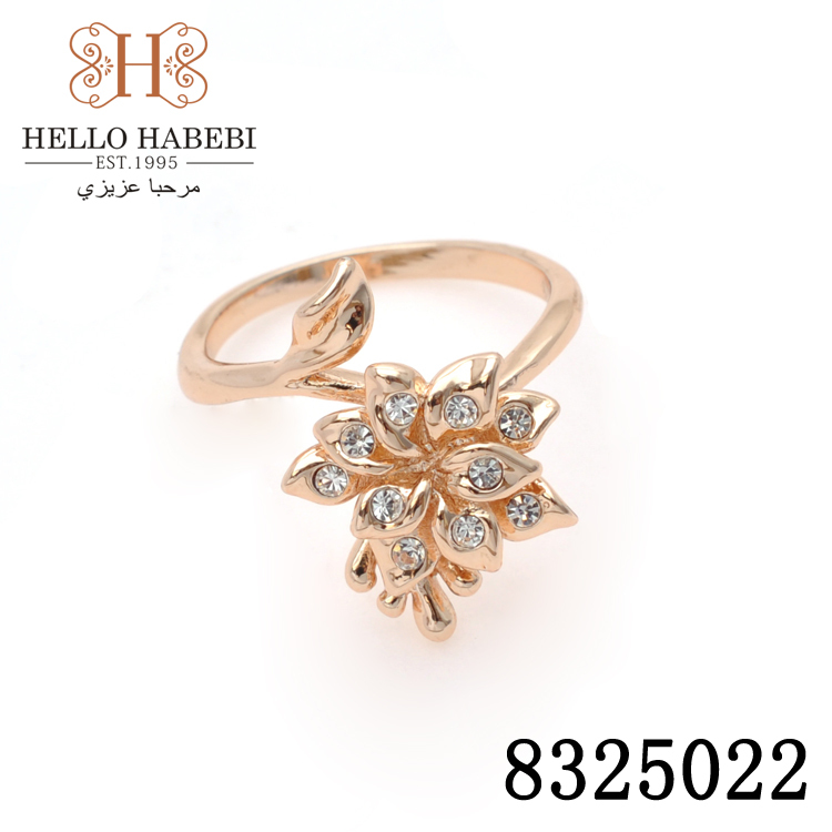 Promotion!18K CC color Gold plated Rhinestone Crystal lovely Flower design ring.jewelry.amaizing price 8325022 - HELLO HABEBI Jewelry Co., Ltd. store