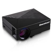 Excelvan GM60 MINI Portable LED projecteur pour jeux vidéo TV Home cinéma soutien HDMI VGA AV SD GM60 avec un câble HDMI libre(China (Mainland))