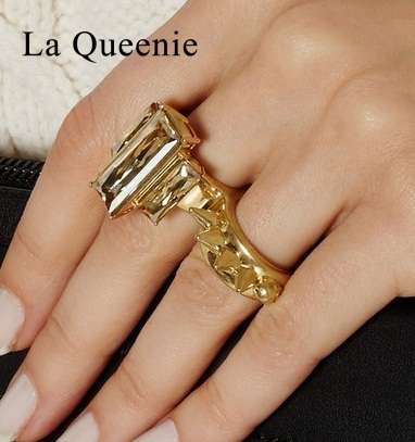 New fashion rings for women summer style mosaic accessories finger jewelry rock women joias 18K gold crystal ring items(China (Mainland))