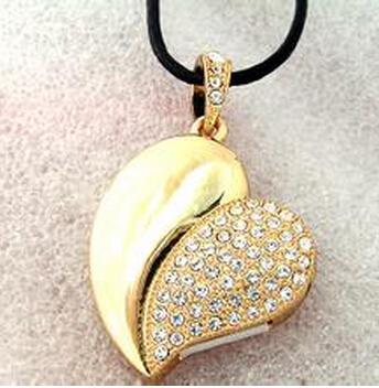 1pc/lot Cheap Price 32gb usb 2.0 flash jewelry crystal heart usb flash pen pen drive memory usb jewerly(China (Mainland))