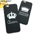 Fashion Brand King Queen Soft TPU Ultra Thin Back Covers for IPhone 6 6s 5 5s