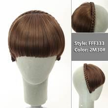 SHANGKE короткие плетеные тупые челки натуральные аккуратные шиньоны термостойкие синтетические женские волосы 2 стиля в наличии натуральные ...(China)